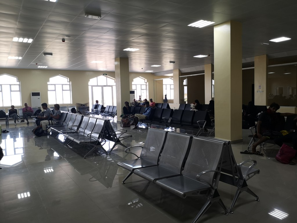 The lounge of Socotra airport