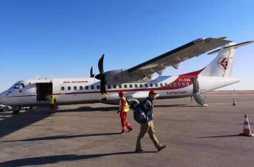 A propeller plane from Air Algerie landed in Timmimoun