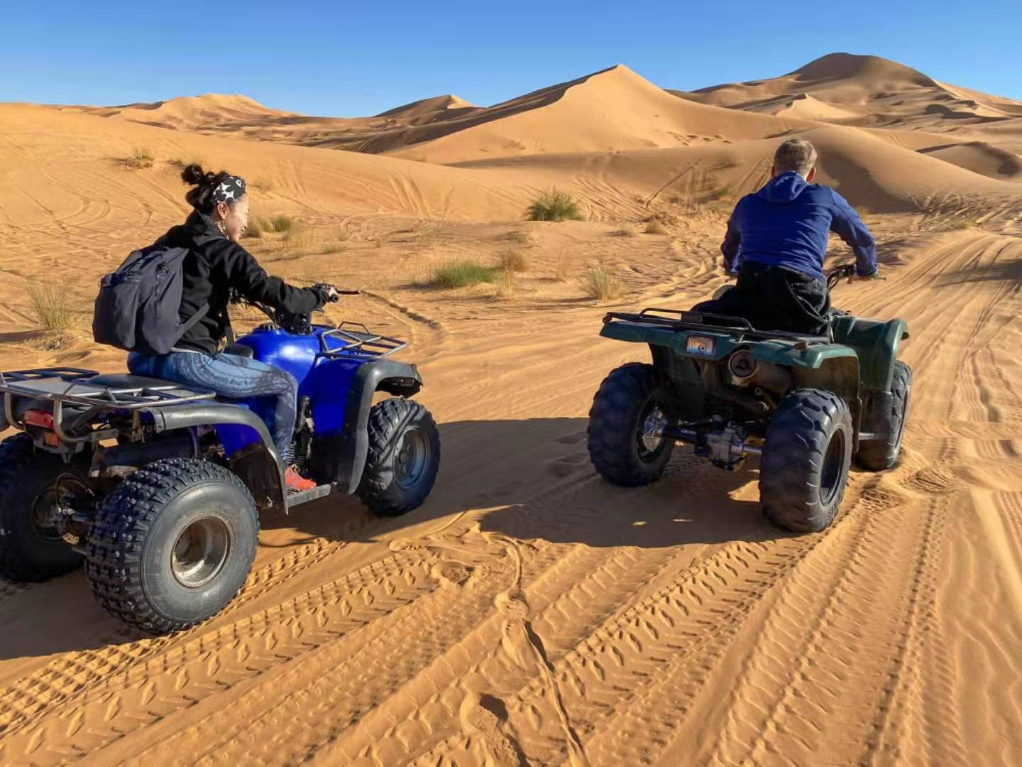 Riding quads in Taghit, Algeria