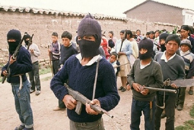 Shining Path guerrillas