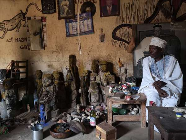 The voodoo priest of Abomey