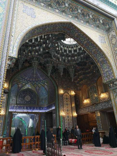 The portal of Imam Husayn's mosque, in Karbala,  is a holy Islamic site of Iraq for all Muslims