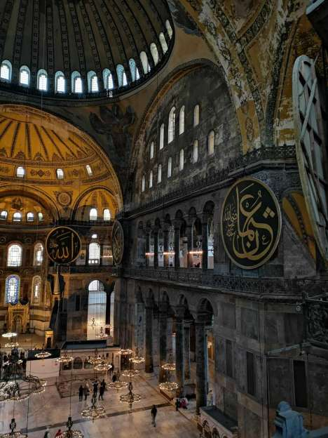 Things to do in Istanbul, visiting the interior of Hagia Sopia