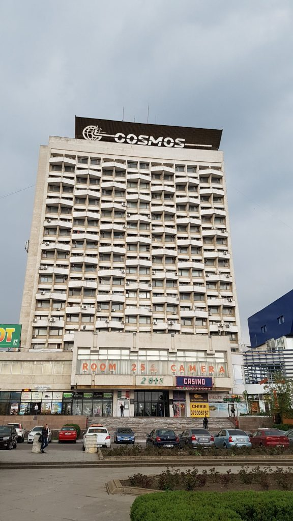 Cosmos hotel, a soviet remnant and fixture of our Moldova tours