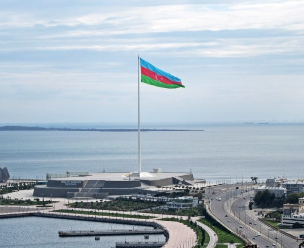 The flagpole of Baku, the world's 3rd tallest.