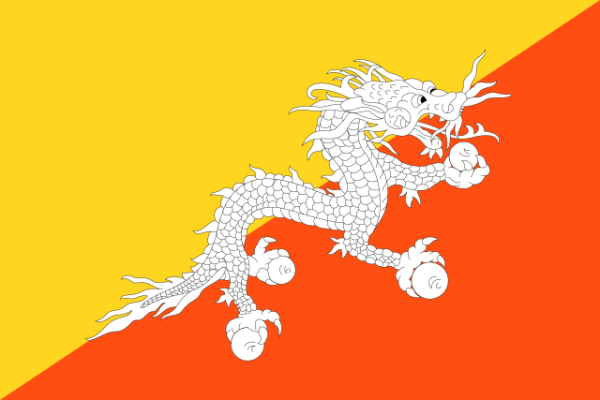 The National Flag of Bhutan