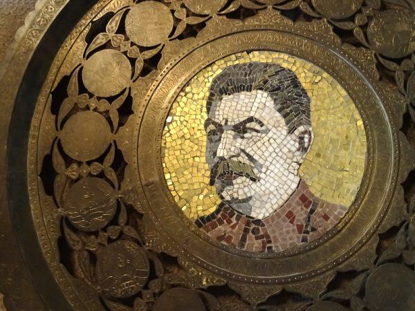 A mosaic of Joseph Stalin in Gori, Georgia