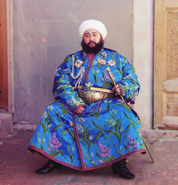 The Emir of Bukhara, in one of the earliest colour photographs