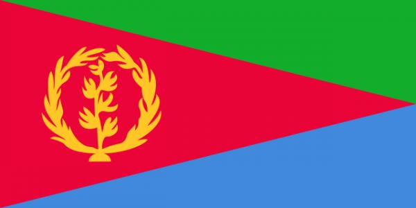 The current flag of Eritrea