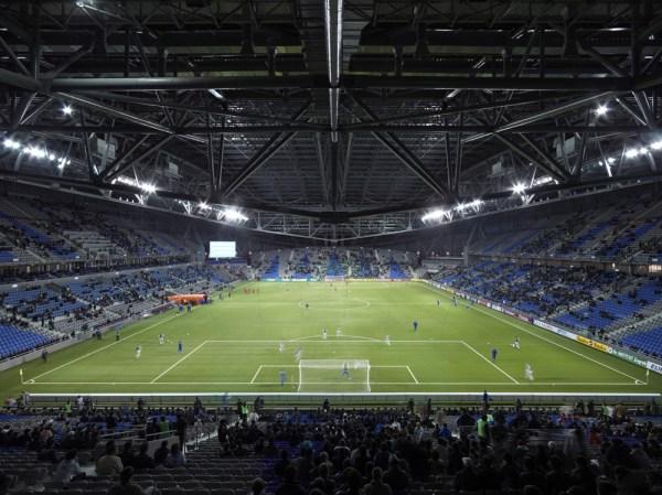 The national football stadium of Kazakhstan