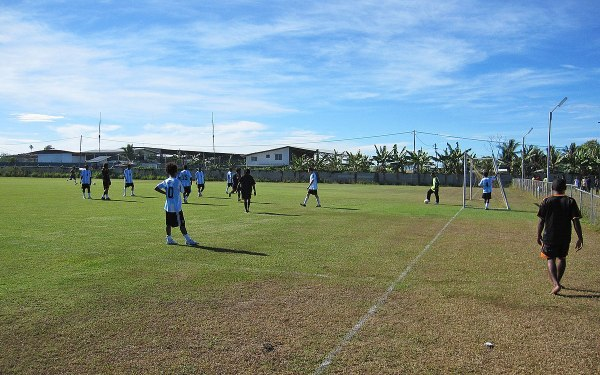 A football match in the Solomon Islands