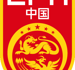 The logo of the China football association