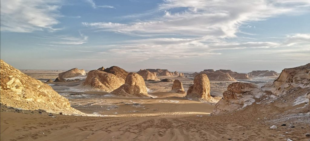 Views of the deserts of Egypt