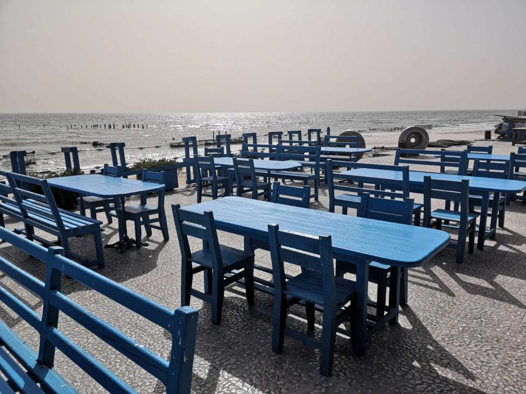 The dining area where we have lunch in Dakhla
