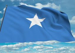 The flag of Somalia, flying in the wind