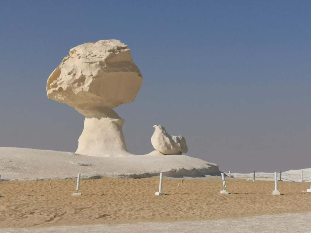 Rock chalk formation in the White Deserts of Egypt
