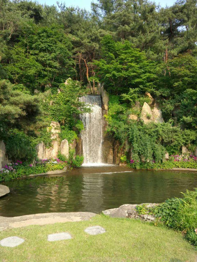 Air Koryo Kobangsan Hotel waterfall