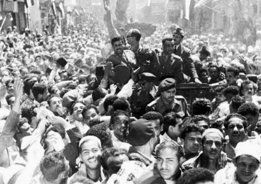 Public celebrations of the Egyptian revolution, led by Nasser
