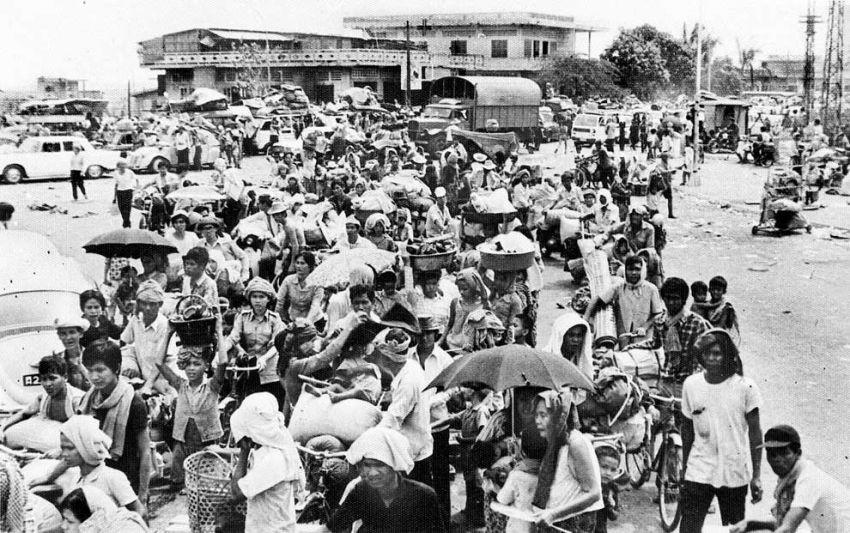 Cambodian's fleeing Phnom Penh after capture