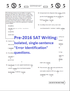 Pre-SAT Writing Error ID