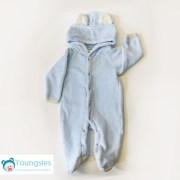Blue Bear Baby Animal Romper Suit