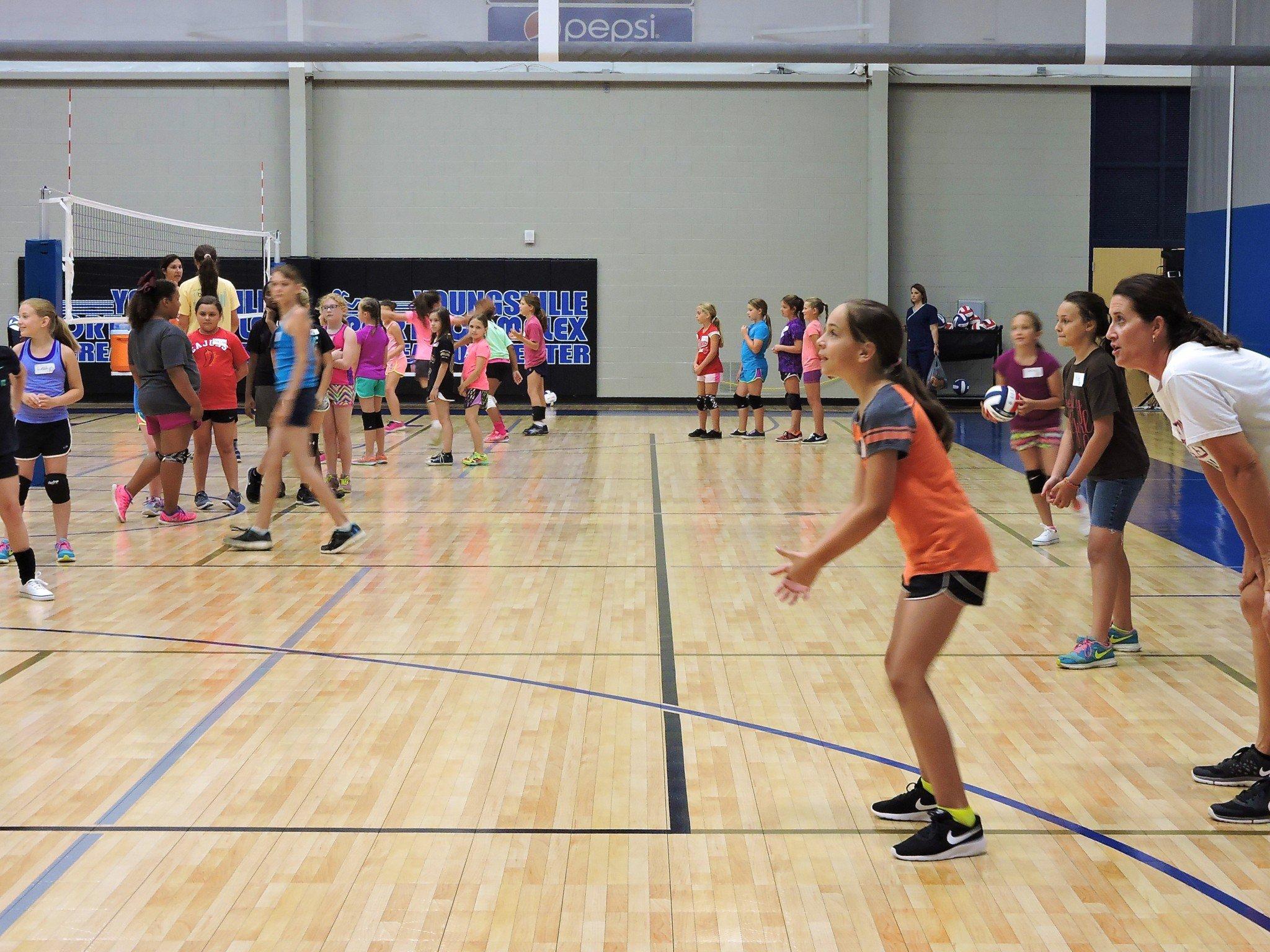 Girls Volleyball Training
