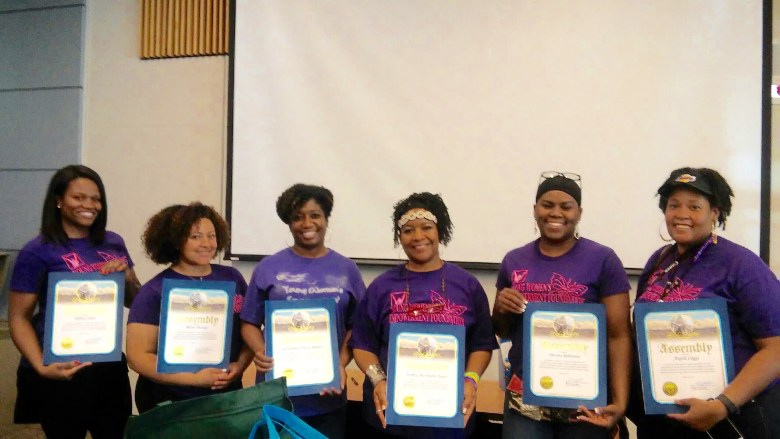 Left to Right Tiffany James Vice-President, Melina Massey Secretary, Gwen Rodgers Founder, Bronica Martindale-Taylor Advisor, Devona Robertson Chief Executive Officer, Angela Coggs Media Relations, Not Pictured Kesha Vann Fund Development and Nisha Singer Advisor