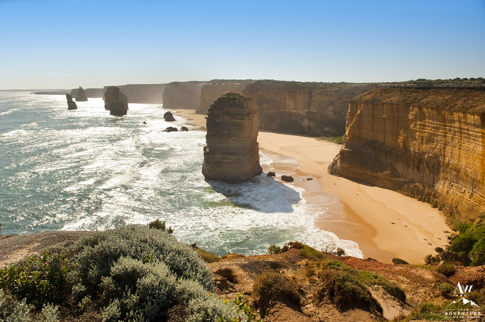 Twelve Apostles famous landmark along the Great Ocean Road Australia