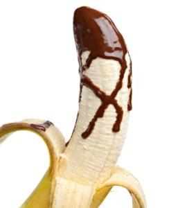 banaan met chocolade