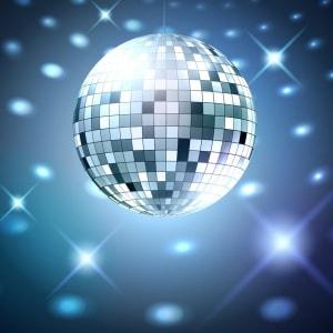 zilveren disco bal