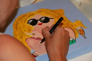 dikke dame schilderen