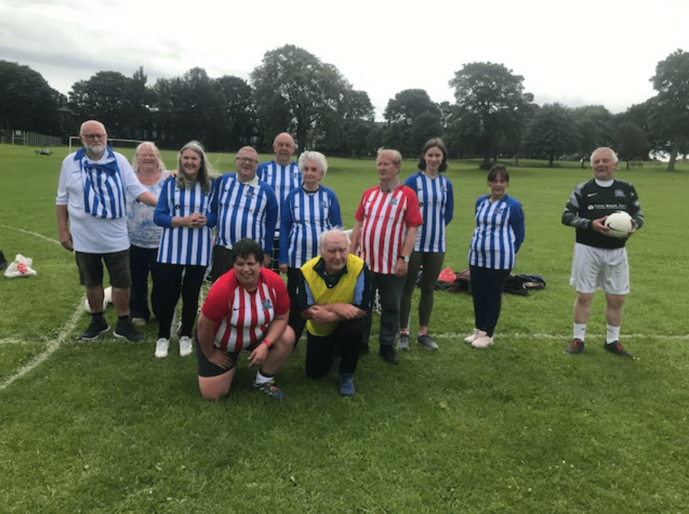 Bramley Walking Wanderers- 'On the ball' and in the press!