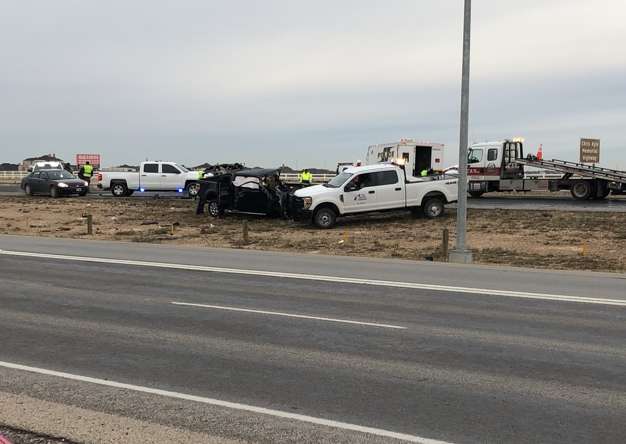 Crews working crash at Highway 191, Yukon Road