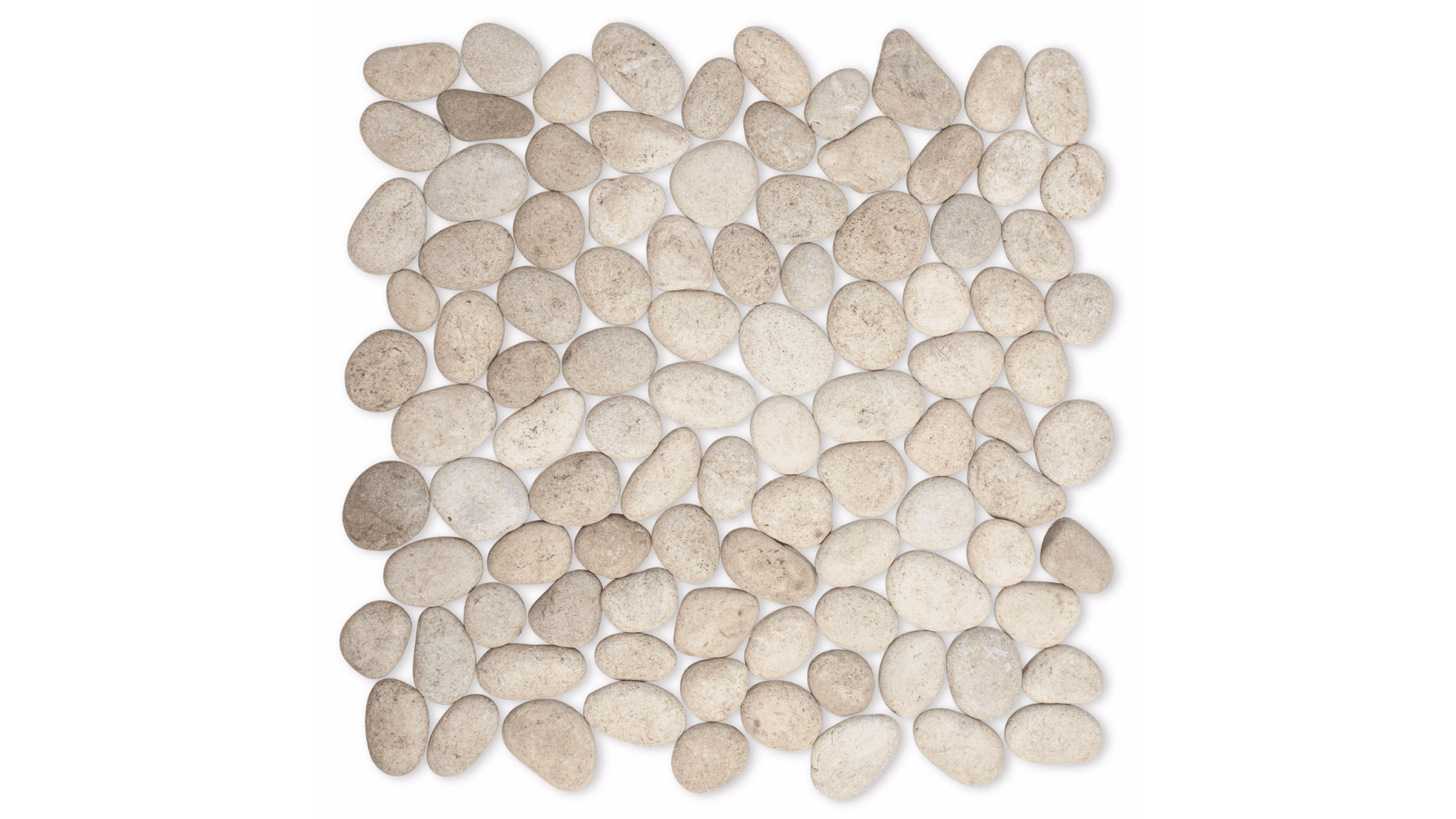 Tan Grey Pebbles Small 12x12 In Luxury Bathroom