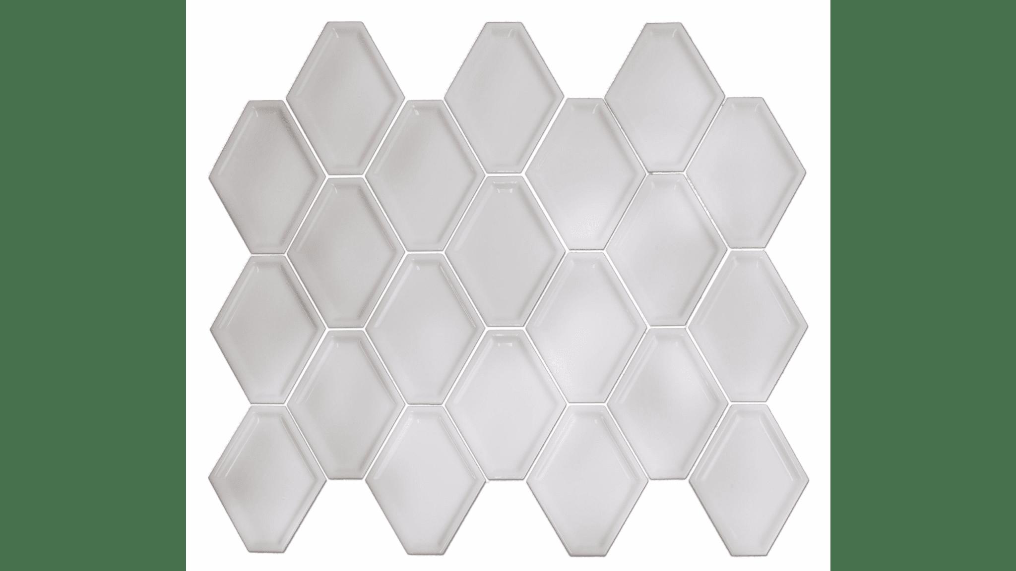 Nova Hex Bianco Ceramic Mosaic Tile 5x55 In Luxury