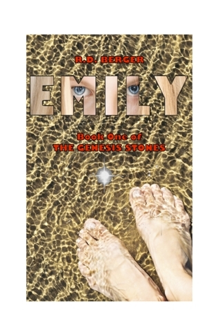 emily book cover with bare feet, sand, water, and a crystal