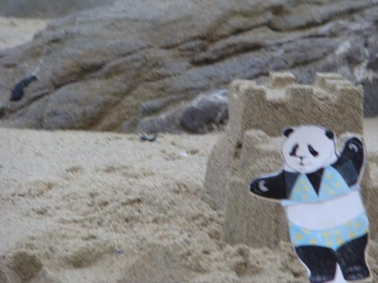 babette and sand castle