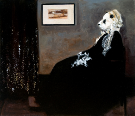 """Arrangement in Black, White, and Gray"" by James A. McNeil Whistler"