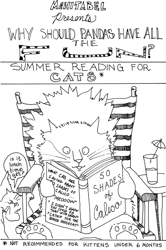 What cats are reading at the beach this summer!