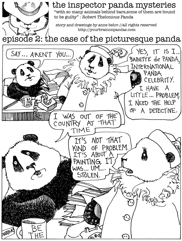 When a panda has a problem, you know where to turn...Inspector Panda, I presume.