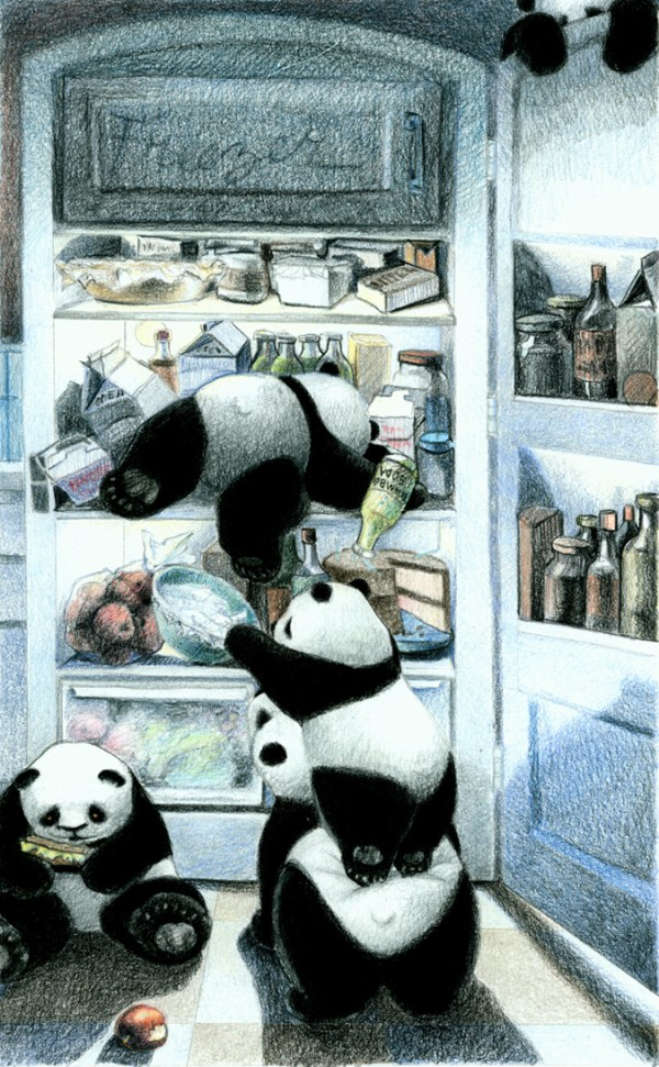 Who could resist pandas in the refrigerator?