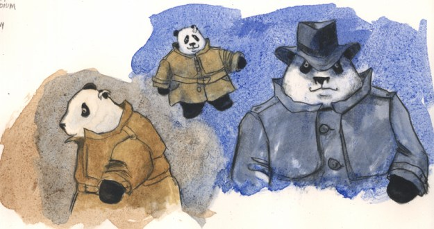 Mr Wu and Inspector Panda...a dapper duo, if I ever saw one!