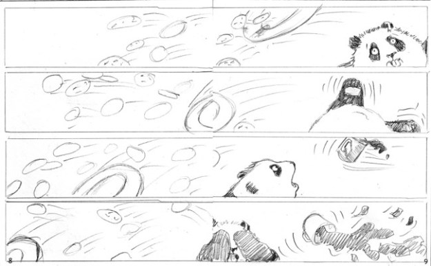 33) From The Case of The Picturesque Panda; pencil roughs