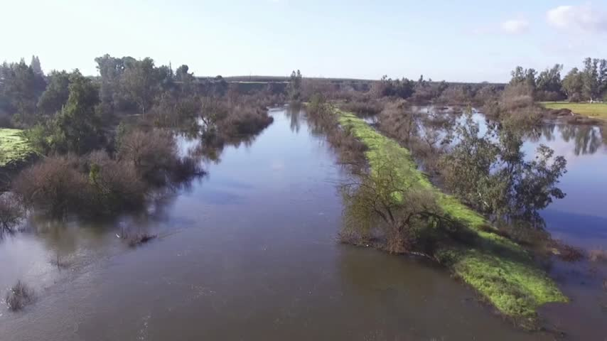 Birds Eye View Of Swollen San Joaquin River_88942171