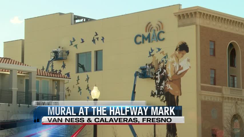 Huge New Artwork in Downtown Fresno