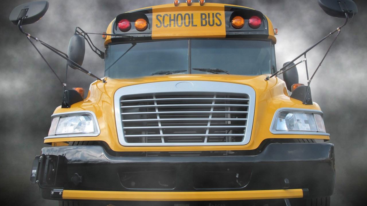 FOGGY SCHOOL BUS
