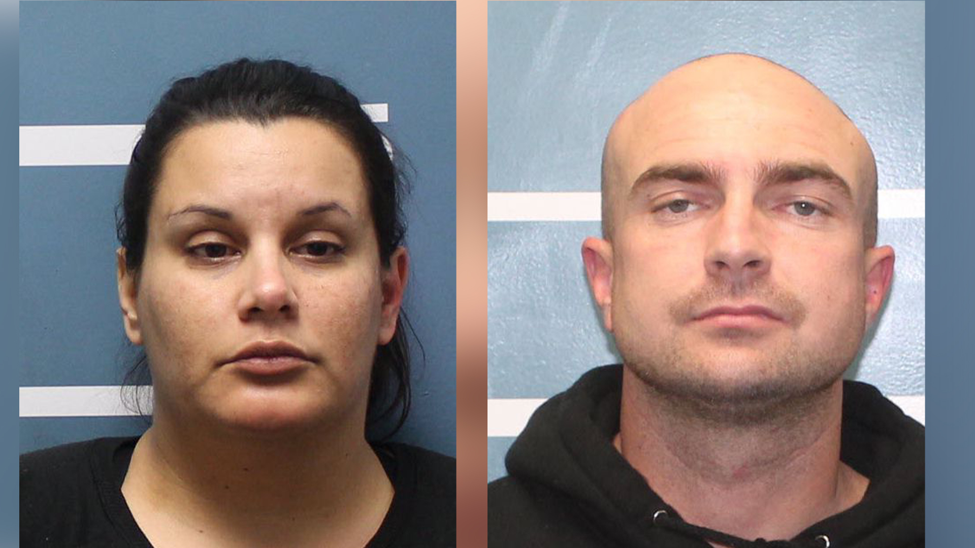 (Left to Right) Amanda Morris, 33, and Gregory Moore, 33 (Courtesy of Visalia Police)