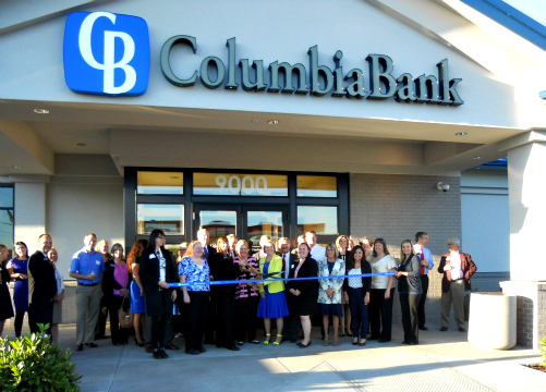 Ribbon Cutting Columbia Bank