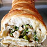 Cheesy Chicken and Asparagus Stromboli
