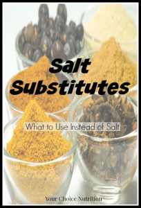Salt Substitutes: What to use instead of salt